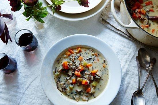 No-Fancy-Tricks-Needed Vegan Cream of Mushroom Soup