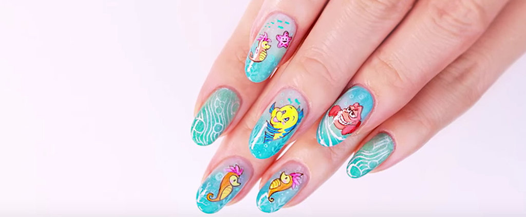 This Is the Most Detailed Little Mermaid Nail DIY You'll Ever Lay Eyes On