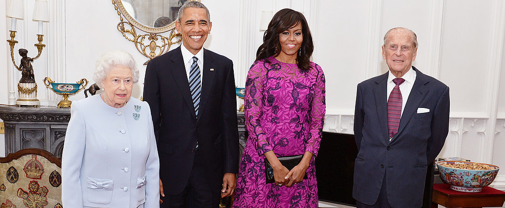 Michelle Obama Just Touched Down in Londontown —in a Very Regal Dress