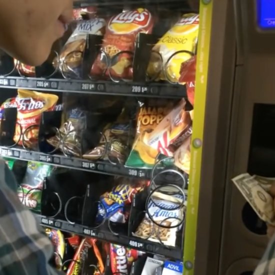 College Students Get Stuck Chips Out of Vending Machine