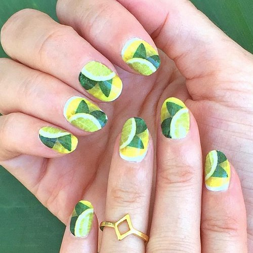 Lemon Nail Art Ideas