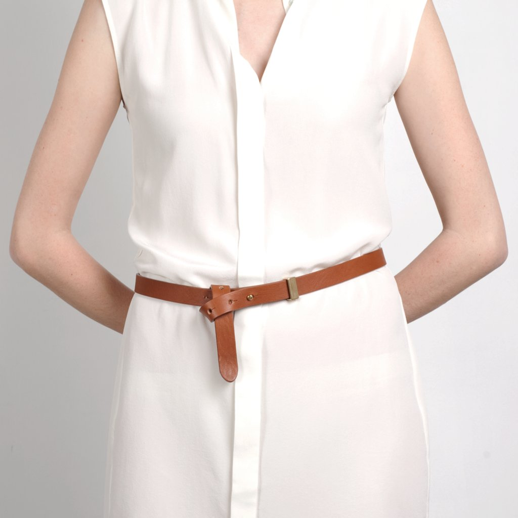 This belt would be a sleek accompaniment to Mom's workwear. Everlane High-Low Belt ($40)