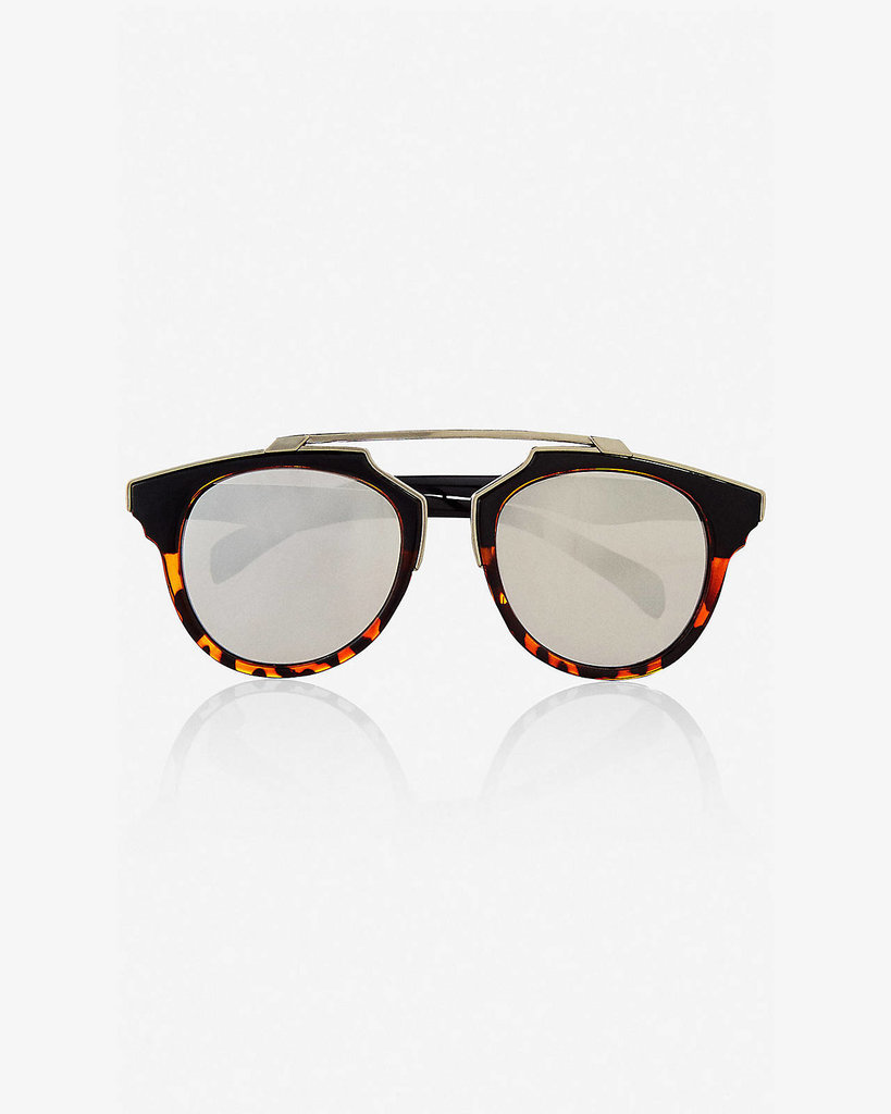 These mirrored frames will give Mom a bit of glam to throw on every day. Express Mirrored Retro Brow Bar Sunglasses ($30)