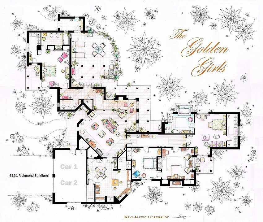 floor plans for houses in tv shows and movies popsugar
