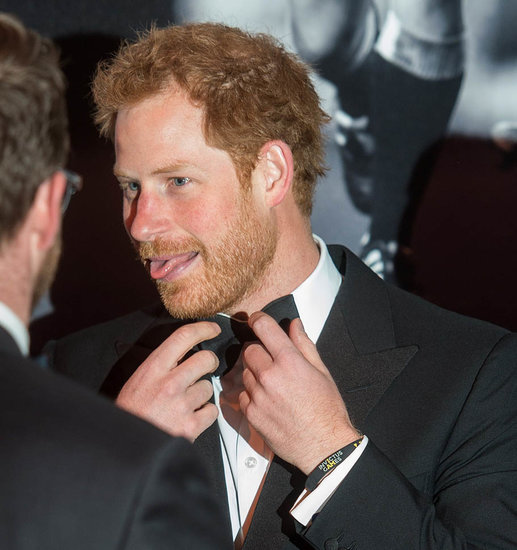 Prince Harry in a tux at the BT Sport Industry Awards in London