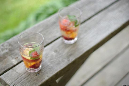 Strawberry and Meyer Lemon Sangria