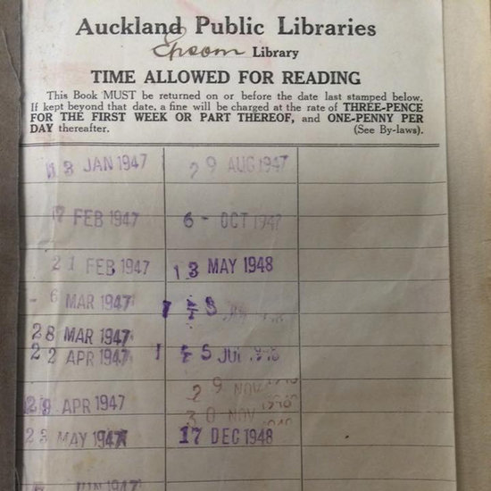 Woman Returns Library Book From 1948