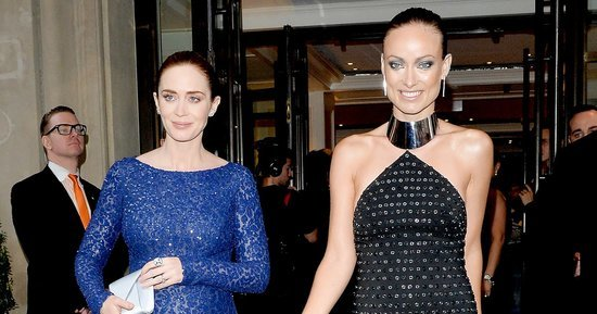 Emily Blunt and Olivia Wilde's Matching Baby Bumps Are Too Cute on the Met Gala 2016 Red Carpet