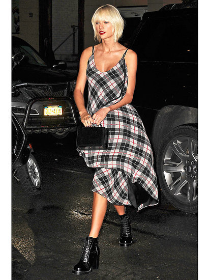Taylor Swift Is Mad For Plaid: Singer Goes Grunge (Twice!) In N.Y.C. Pre-Met Gala
