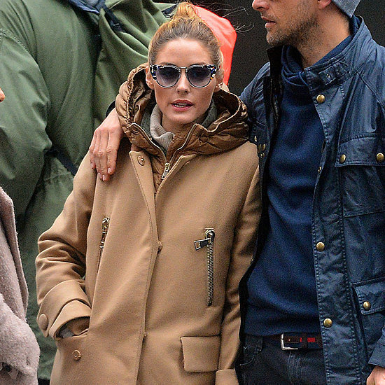 Olivia Palermo Fur Raincoat May 2016