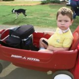 This Grandpa Just Altered Classic Radio Flyer Red Wagons in the Best Way