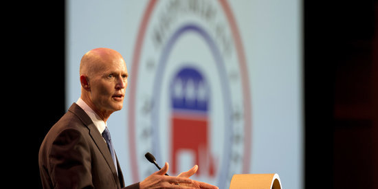 Jerry Brown Welcomes Rick Scott To California With Climate Change Burn