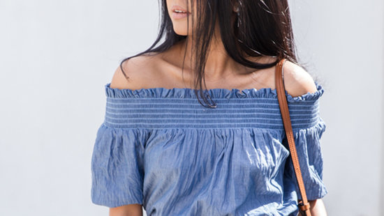 Here's What To Wear With Off-The-Shoulder Tops