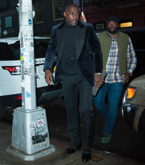 Idris Elba at Anna Wintour's house for pre-MET Gala dinner