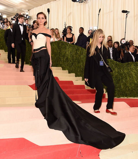 Emma Watson at the 2016 MET Gala in pant dress