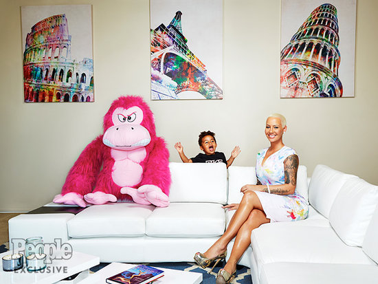 Why Amber Rose Is Raising Son Sebastian to Be a Feminist: 'He Needs to Look at His Mom as Superwoman'