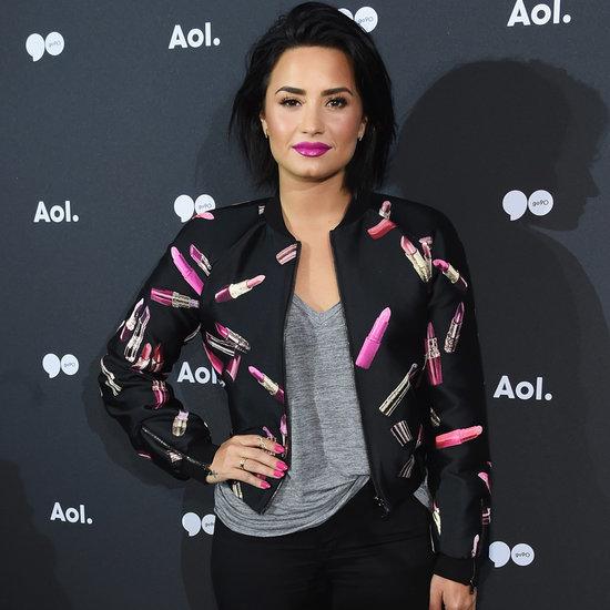 Demi Lovato Wearing Giamba Lipstick Jacket