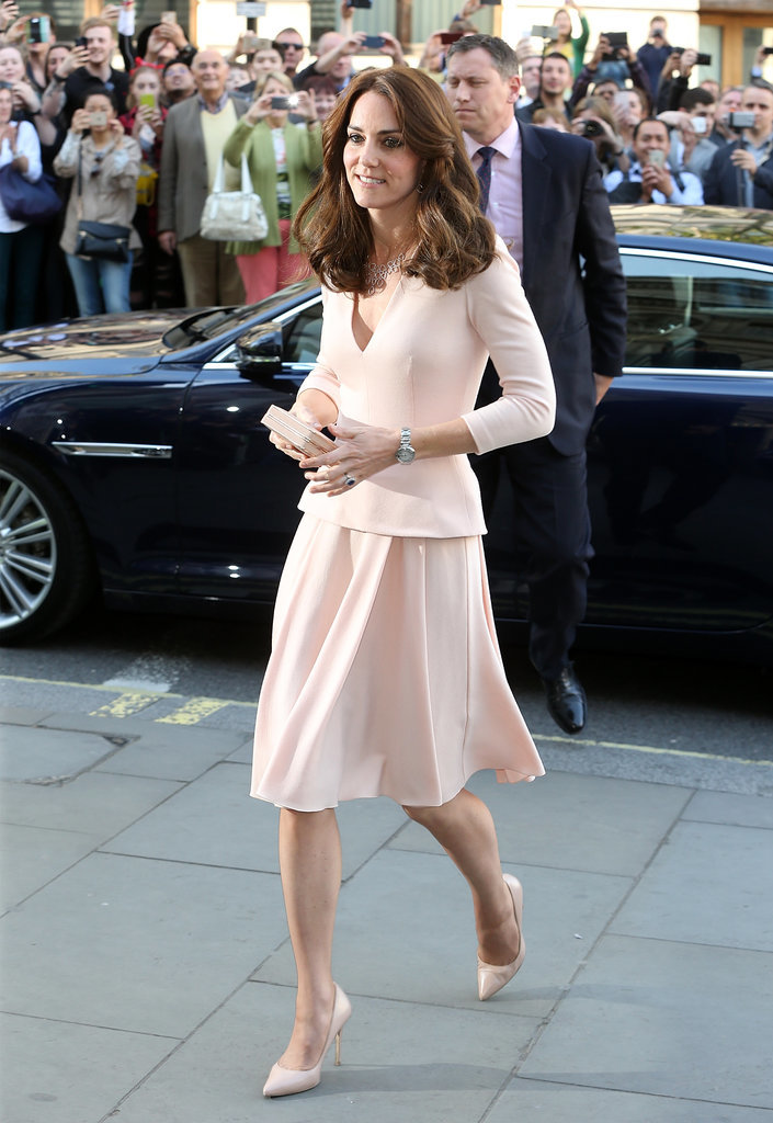 Kate Middleton 39 S Pink Alexander Mcqueen Dress May 2016 Popsugar Fashion
