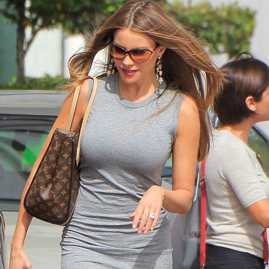 Sofia Vergara Wears a Gray Body-Con Dress May 2016