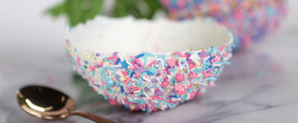 Ice Cream Is Even Better Served in Sprinkles-Covered (Edible!) Chocolate Bowls