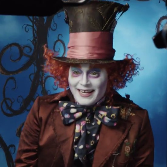 Johnny Depp Dresses Up as the Mad Hatter at Disneyland