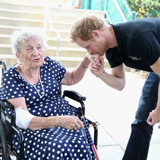 Prince Harry Kissing Elderly Woman's Hand at Invictus Games