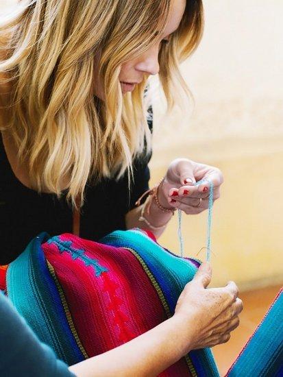 An Exclusive Sneak Peek at Lauren Conrad's Latest Handmade Textiles