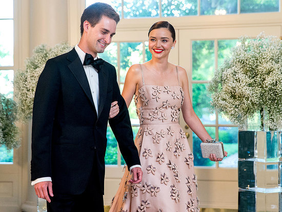 Miranda Kerr Documents Her White House State Dinner Date Night with Boyfriend Evan Spiegal on (What Else?) Snapchat