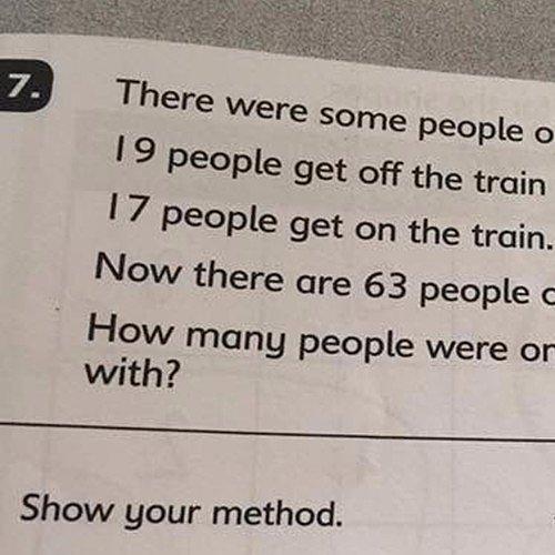 Math Test Question Stumps Parents