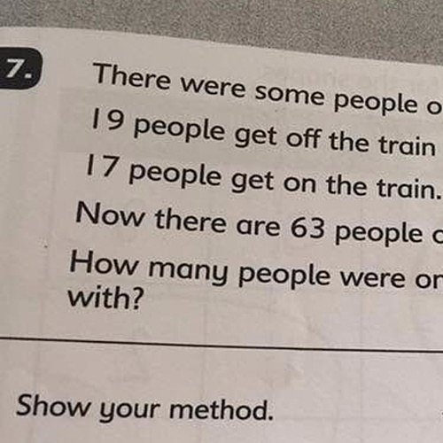 Maths Test Question Stumps Parents
