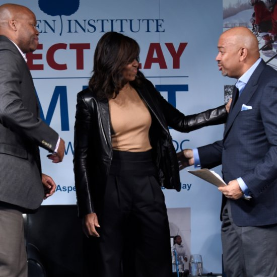 Michelle Obama Wearing a Leather Jacket May 2016
