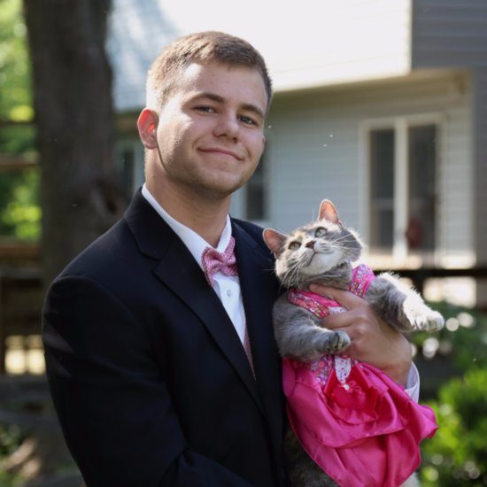 Teen Takes His Cat to Prom