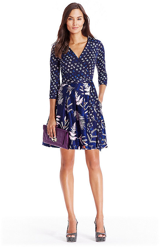 Diane von Furstenberg Jewel Silk Combo Wrap Dress ($598)