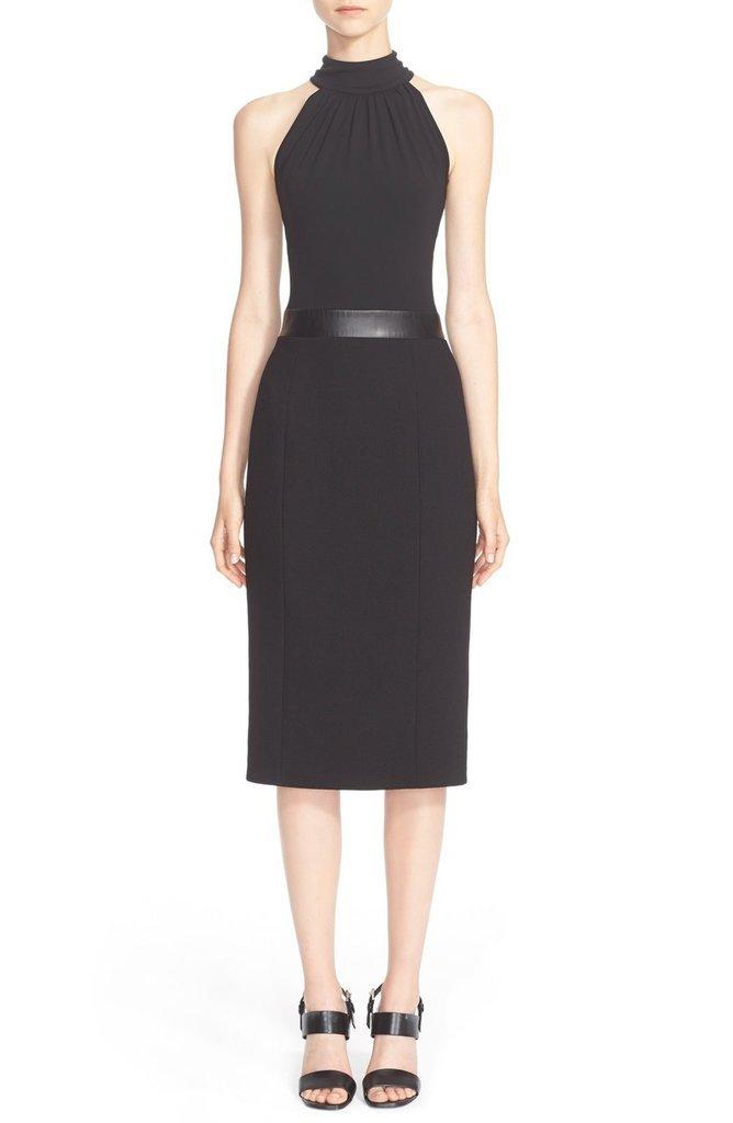 Michael Kors Jersey & Bouclé Crepe Halter Dress ($1,775)