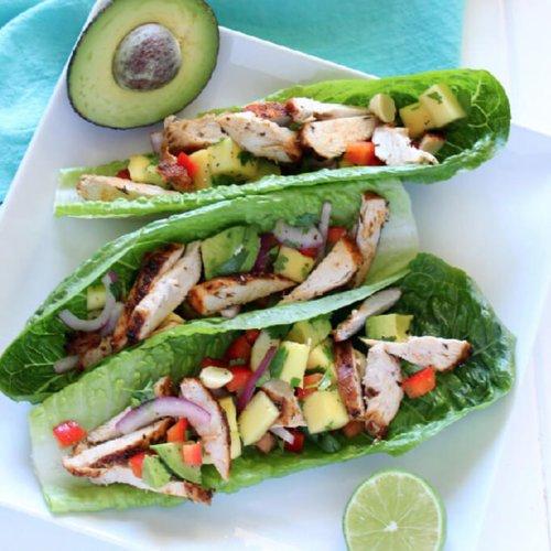 Chicken Mango Lettuce Wraps Recipe | POPSUGAR Fitness