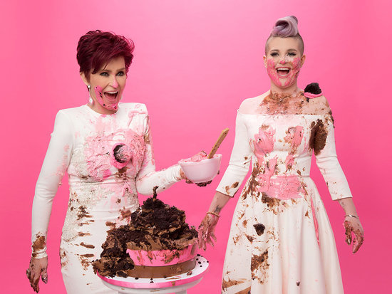 How Sweet Is This Picture? Sharon and Kelly Osbourne Enjoy a Cake Fight for Cancer Research