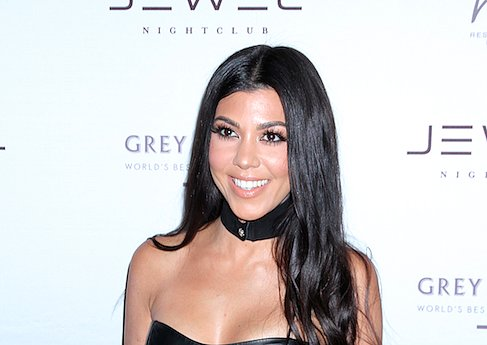 Kourtney Kardashian's Abs Are a Thing of Chiseled Beauty in Leather Crop Top