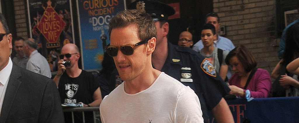 Newly Single James McAvoy Shows Off His X-Men Muscles in NYC