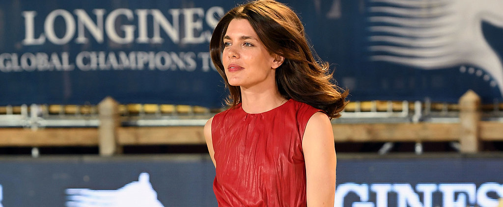 Leave It to a Royal Like Charlotte Casiraghi to Make Crinkled Leather Look Chic