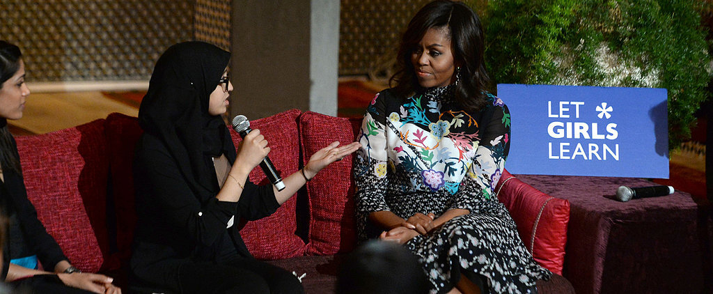 Michelle Obama's Dress Will Make You Want to Add a Whole Palette of Color to Your Wardrobe