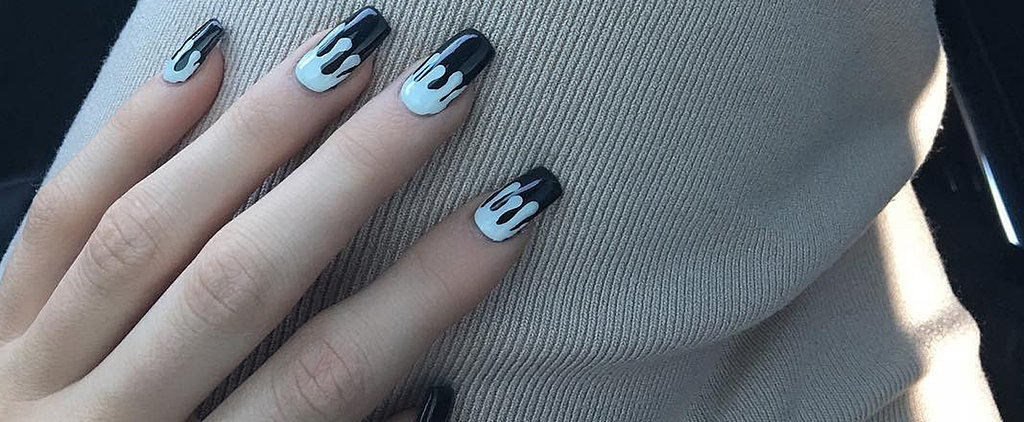 Kylie Jenner Fangirls Herself, Flaunts a Lip Kit-Inspired Manicure
