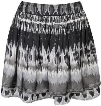 Forever 21 Shopping-Tiered Ikat Satin Skirt $11.50