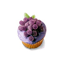Grape Cupcake