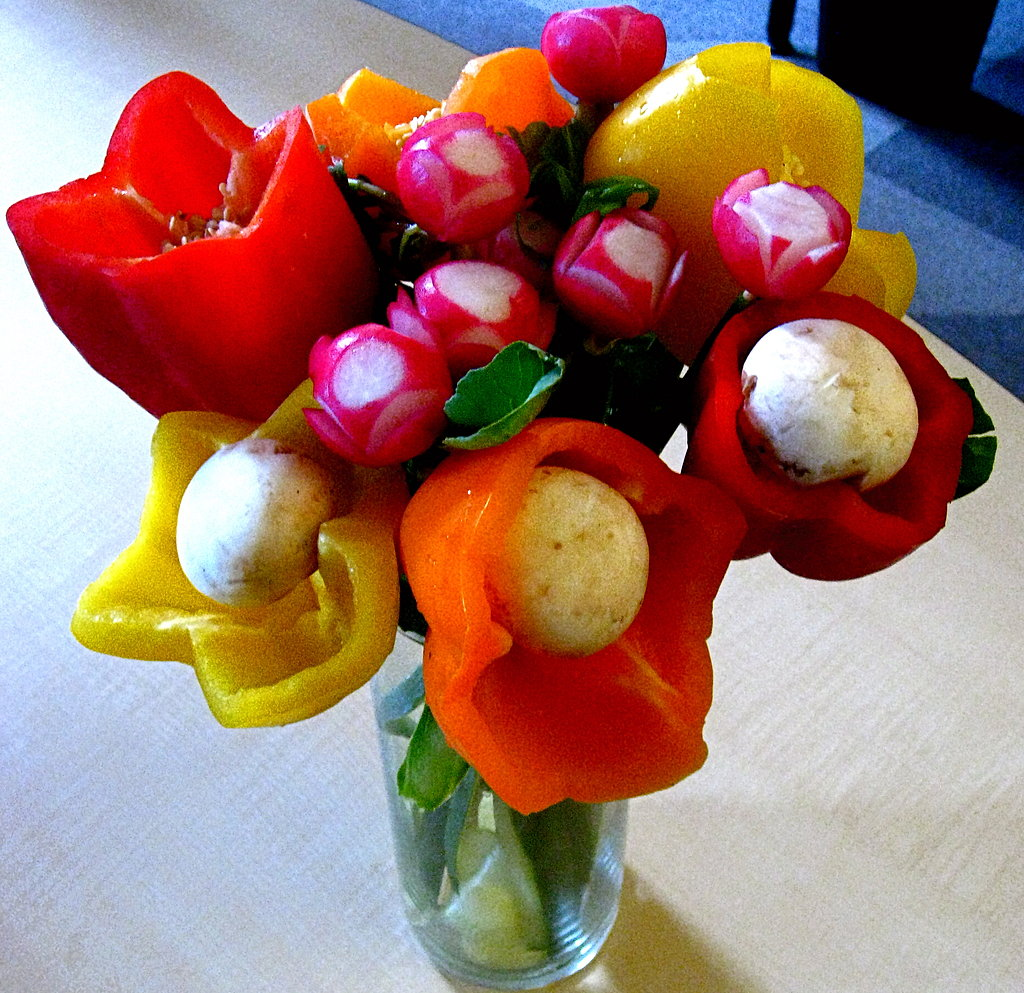 How To Create A Diy Floral Arrangement With Fresh Edible