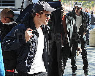 Photos of Robert Pattinson Leaving LAX and Arriving in Japan