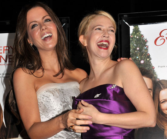 Slide Photo of Drew Barrymore and Kate Beckinsale At Premiere of Everythings Fine