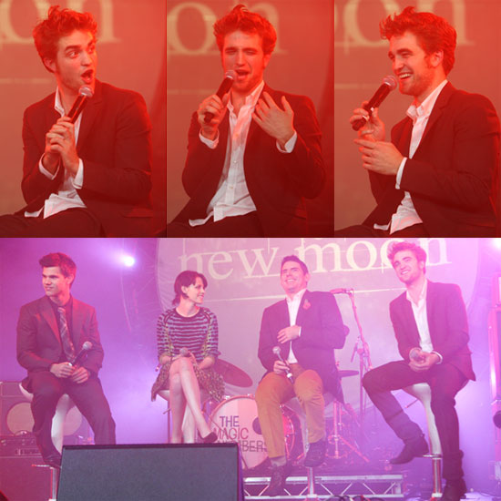 Photos of Robert Pattinson, Kristen Stewart, Taylor Lautner And Chris Weitz Promoting New Moon in London 2009-11-11 14:00:11