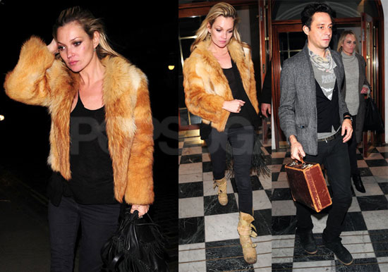 Photos of Kate Moss, Jamie Hince, and Amber Valetta Out to Dinner in London