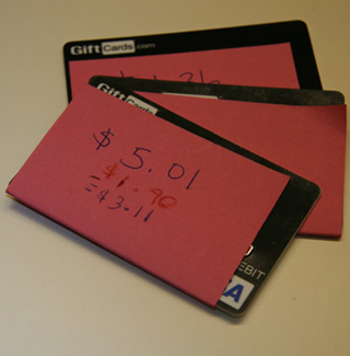 Savvy ATM: Use This Sticky Solution For Leftover Gift Cards