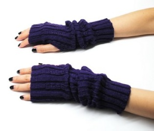 Stylish Knit Arm Warmer Fingerless Gloves